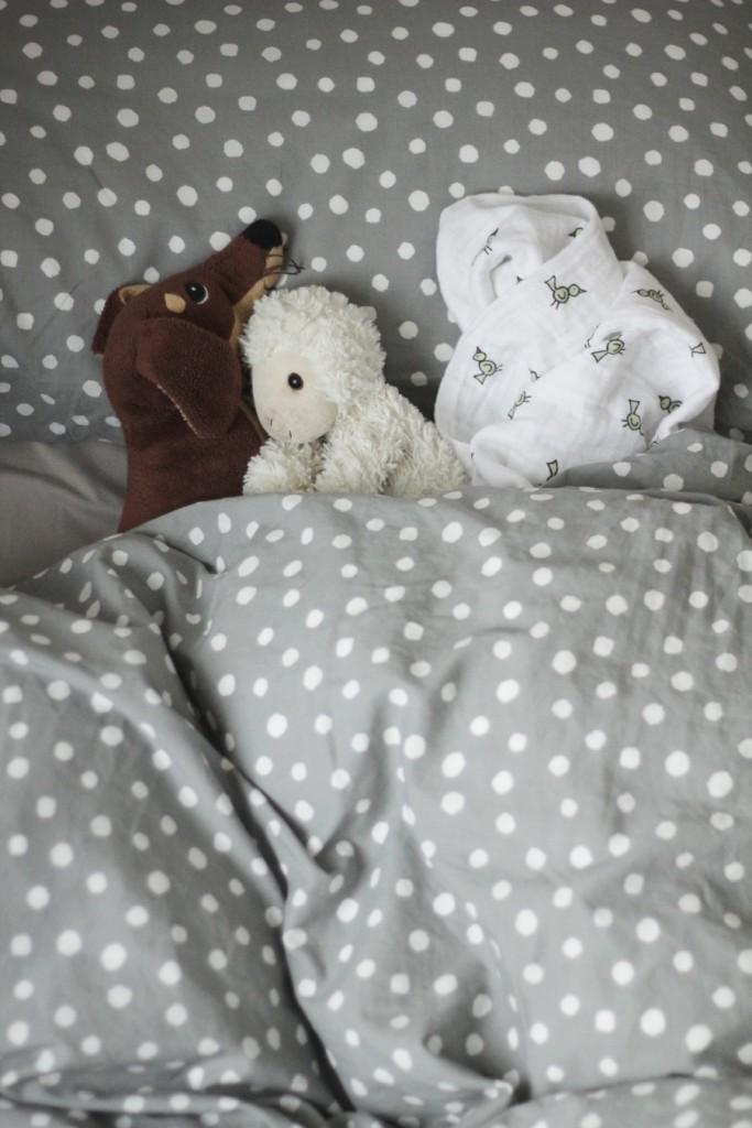 Bettwäsche gepunktet