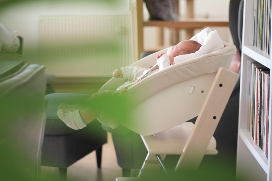 TrippTrapp Stokke mit Babyschale